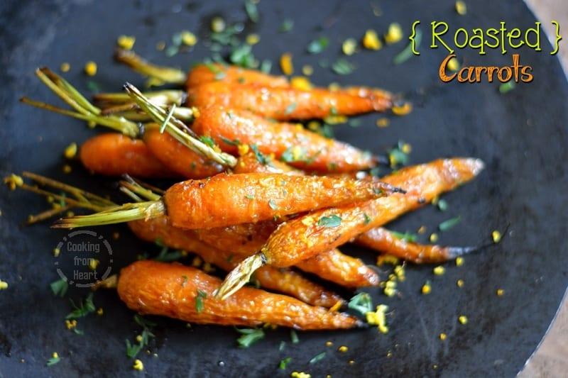 Honey Orange Roasted Carrots | Roasted Baby Carrots