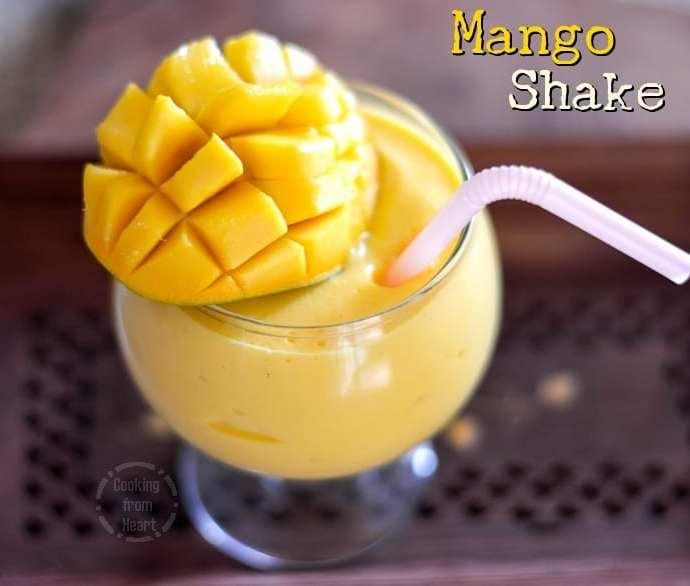 Mango Milkshake | Mango Ice Cream Shake Recipe