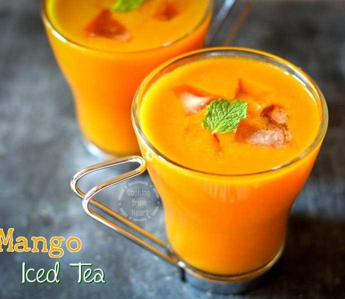 Mango Iced Tea | Summer Cool Drink Recipe