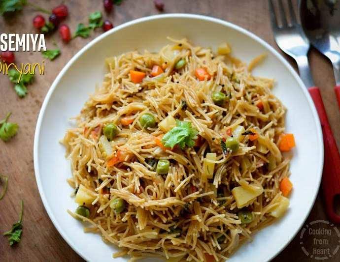 Semiya Pulao   Vermicelli Biryani   Easy Dinner Ideas