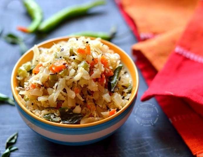 Cabbage Carrot Beans Poriyal | Tamilnadu Style Tricolor Stir-Fry Recipe