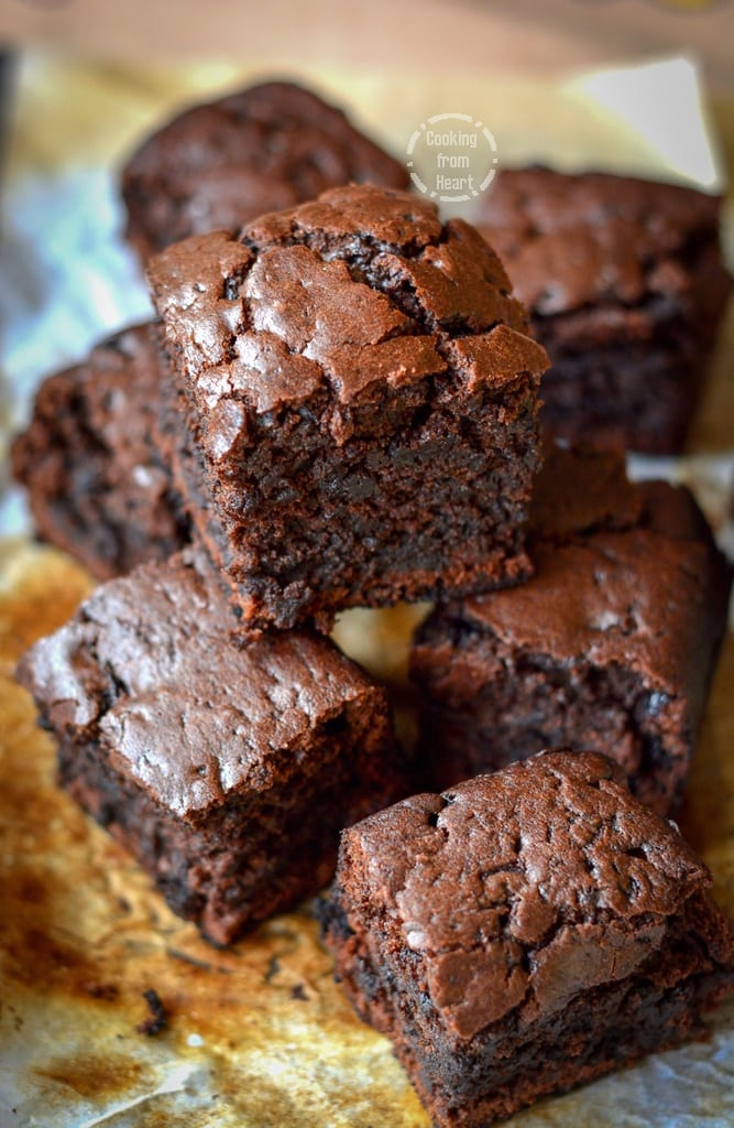 Eggless Chocolate Brownies Cooking From Heart