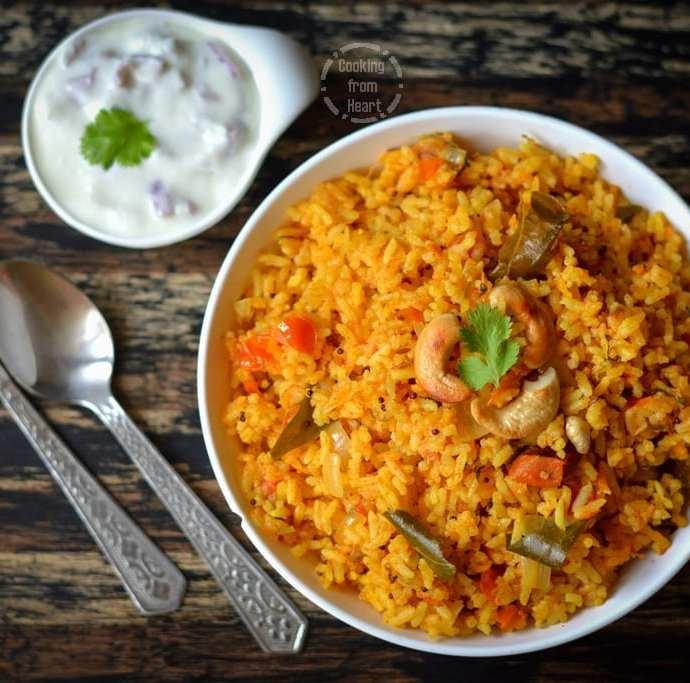 Pressure Cooker Tomato Rice | Easy One Pot Tomato Rice