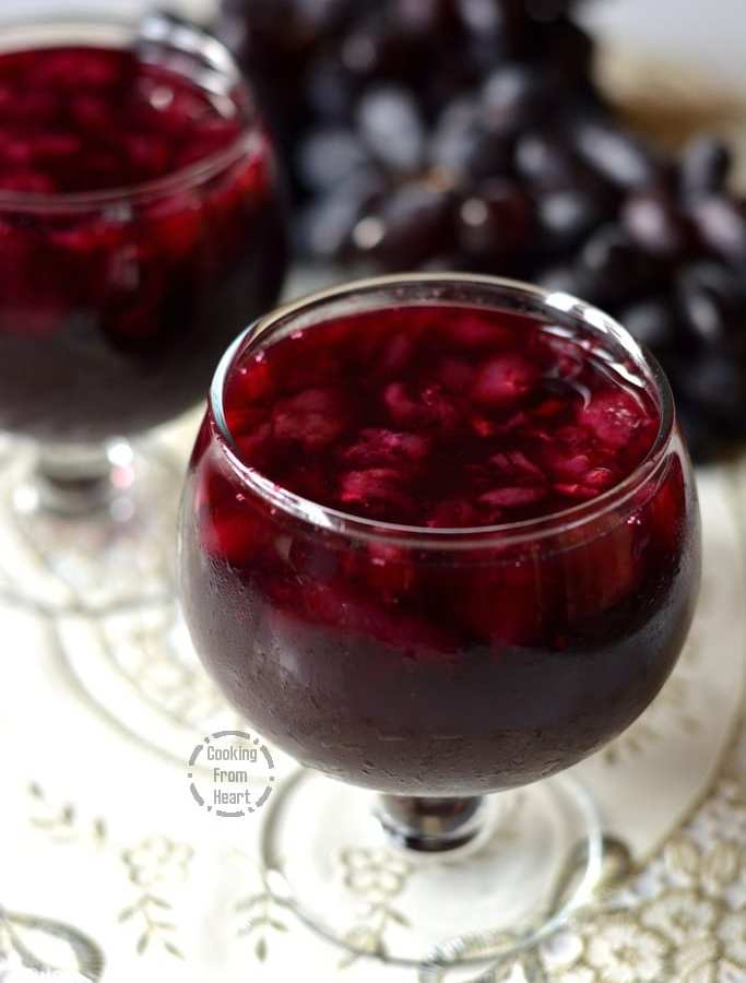 Homemade Arabian Pulpy Grape Juice