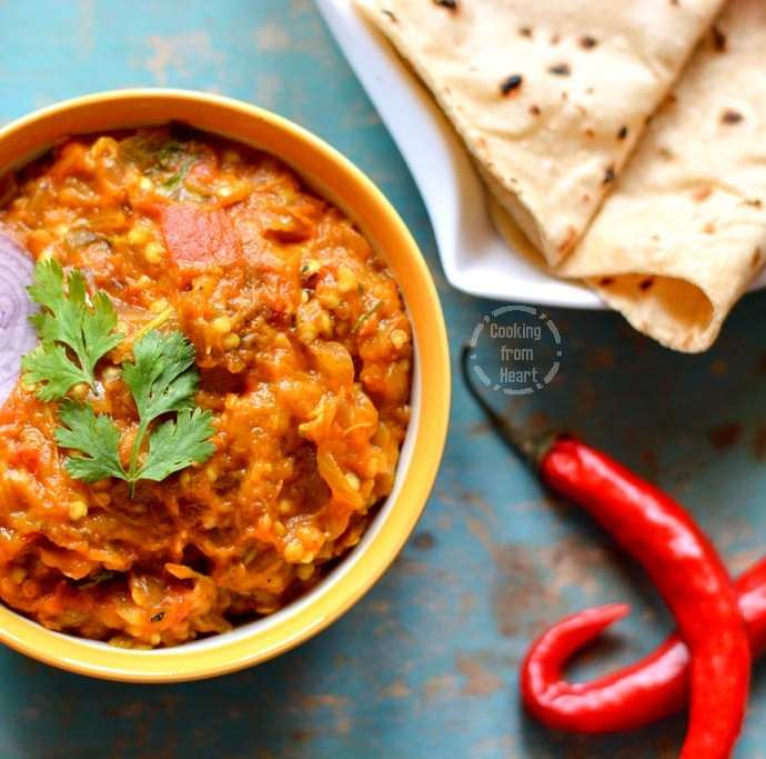 Baingan Bharta | Smoked Eggplant Curry