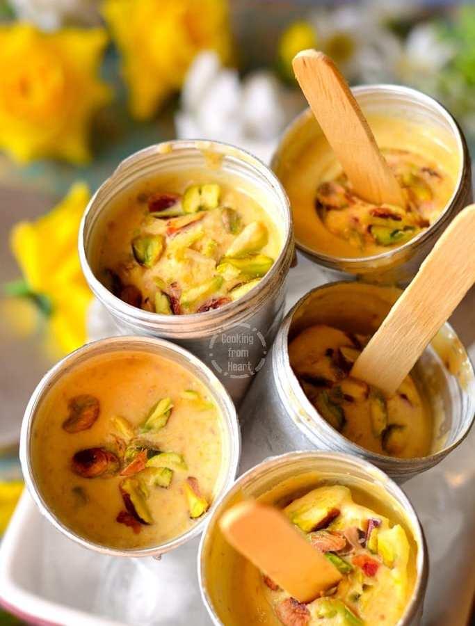 Mango Kulfi | No Churn Easy Mango Kulfi