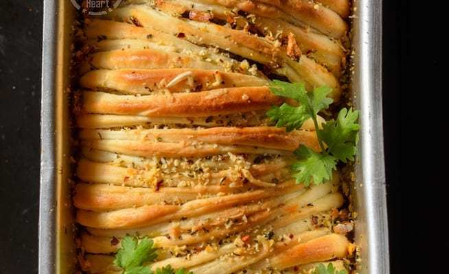 Cheesy Butterflake Herb Loaf