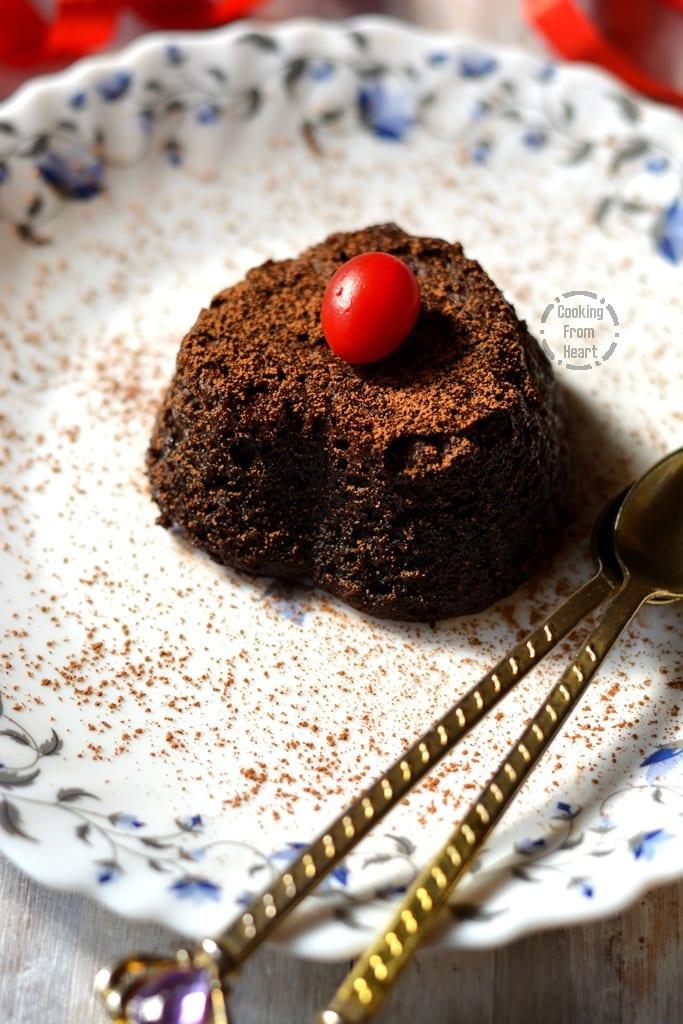 Eggless Chocolate Lava Cake In A Mug