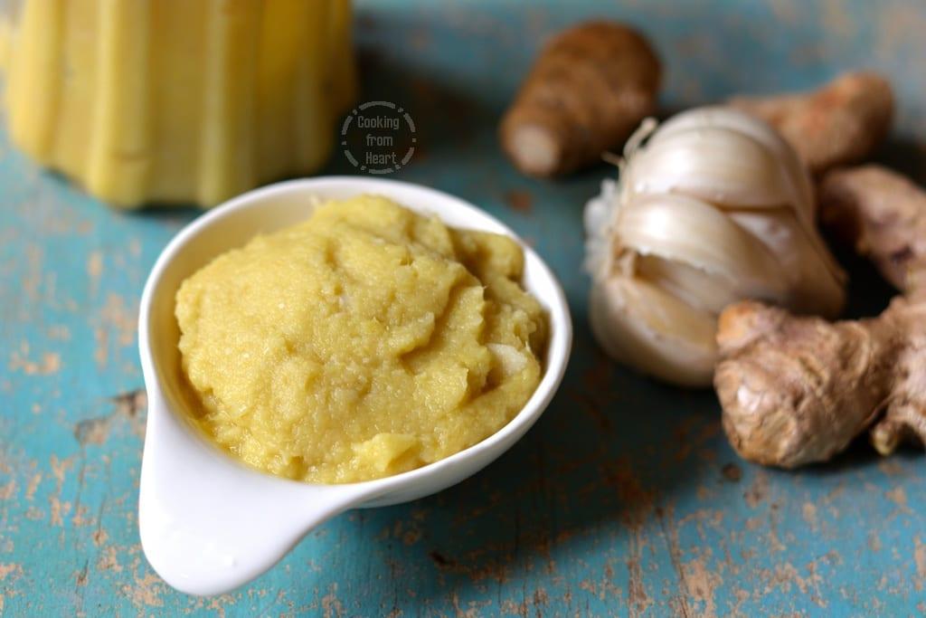 Homemade Ginger Garlic Paste