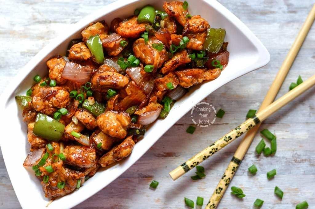 Low Calorie Mushroom Manchurian Dry