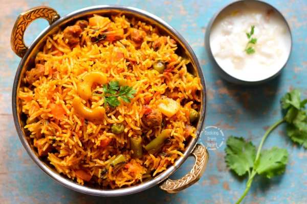 Vegetable biryani in pressure cooker cooking from heart veg biryani in pressure cooker forumfinder Images