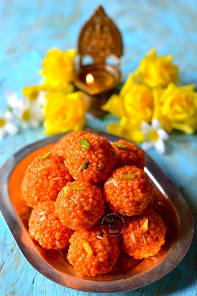 Motichoor Ladoo | Homemade Motichur Laddu