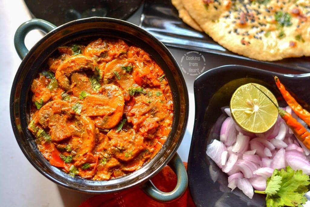 Restaurant Style Mushroom Masala