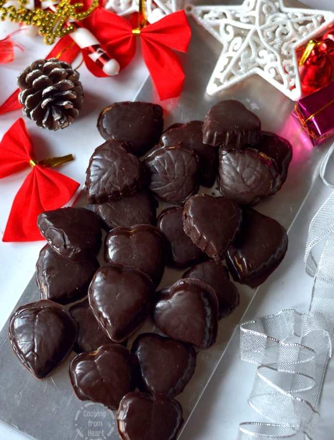Homemade Peanut Butter Filled Chocolates