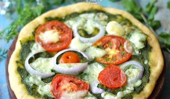 Mint Pesto Whole Wheat Pizza