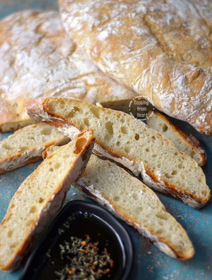 Quick No Knead Ciabatta Bread