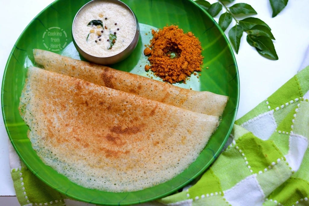Dosa on cast iron tawa