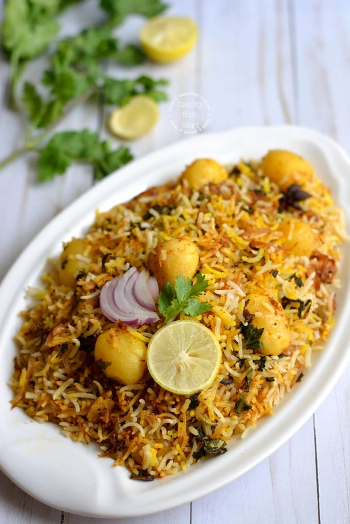 Baby Potato Hyderabadi Dum Biryani