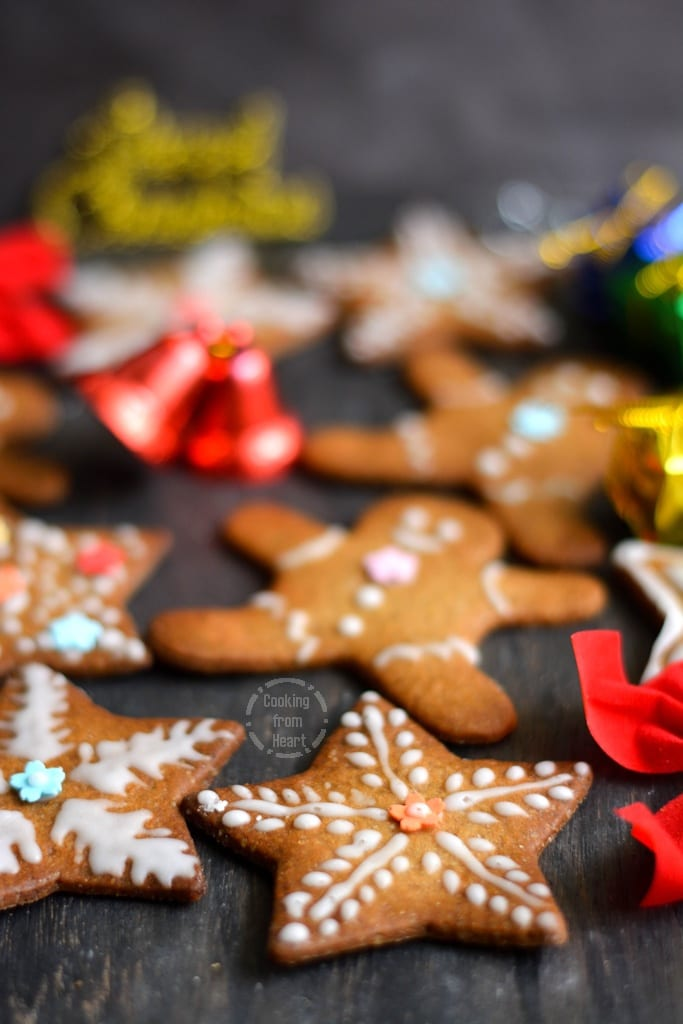 Eggless Gingerbread Cookies