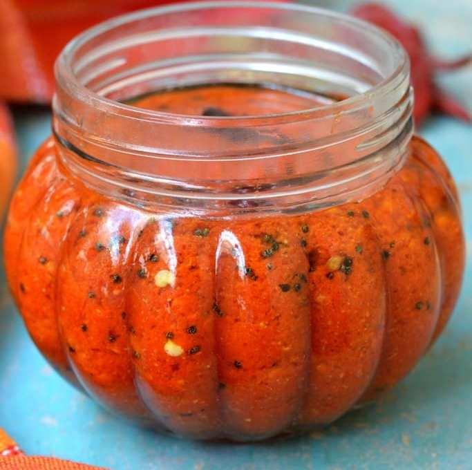 Pandu Mirapakaya Pachadi | Andhra Red Chilli Pickle