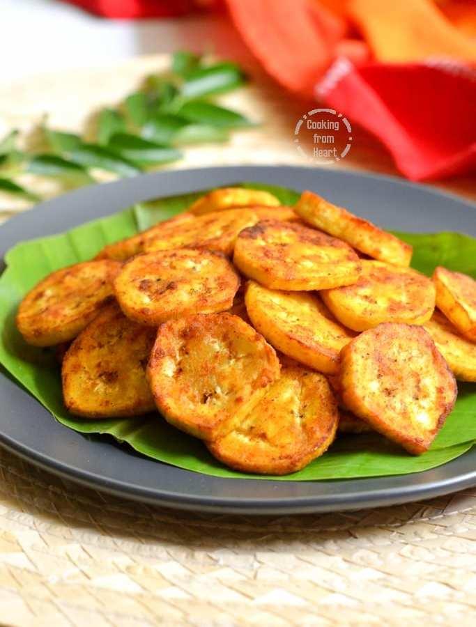 Vazhakkai Roast | Vazhakkai Varuval | Raw Plantain Tawa Fry