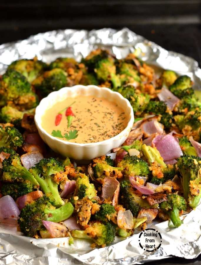 Crispy Garlic Roasted Broccoli | Low Calorie Broccoli Roast