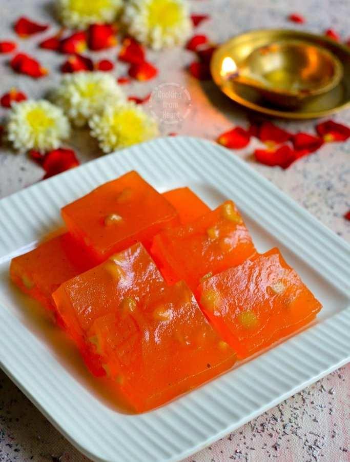 Karachi Halwa | Bombay Halwa | Corn Flour Halwa