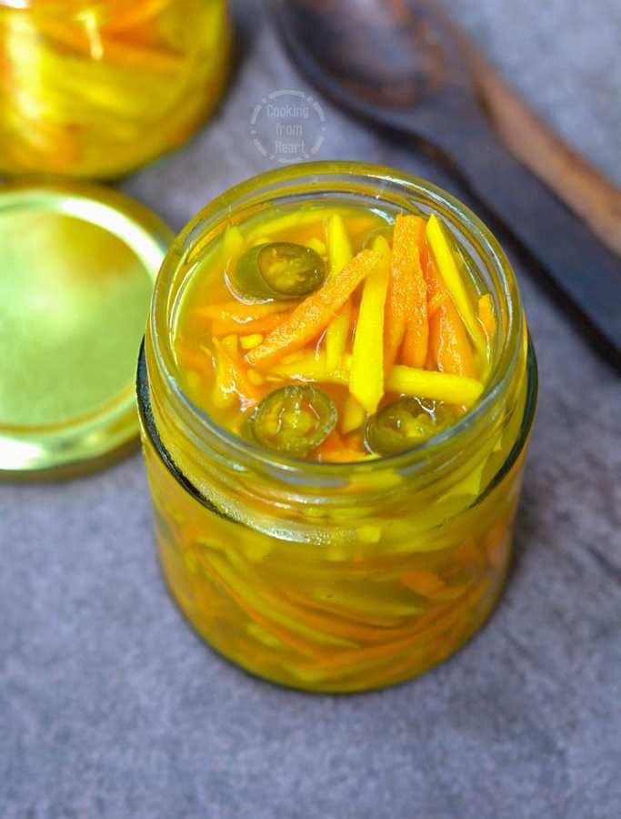 Fresh Turmeric Pickle | Kachi Haldi Ka Achar