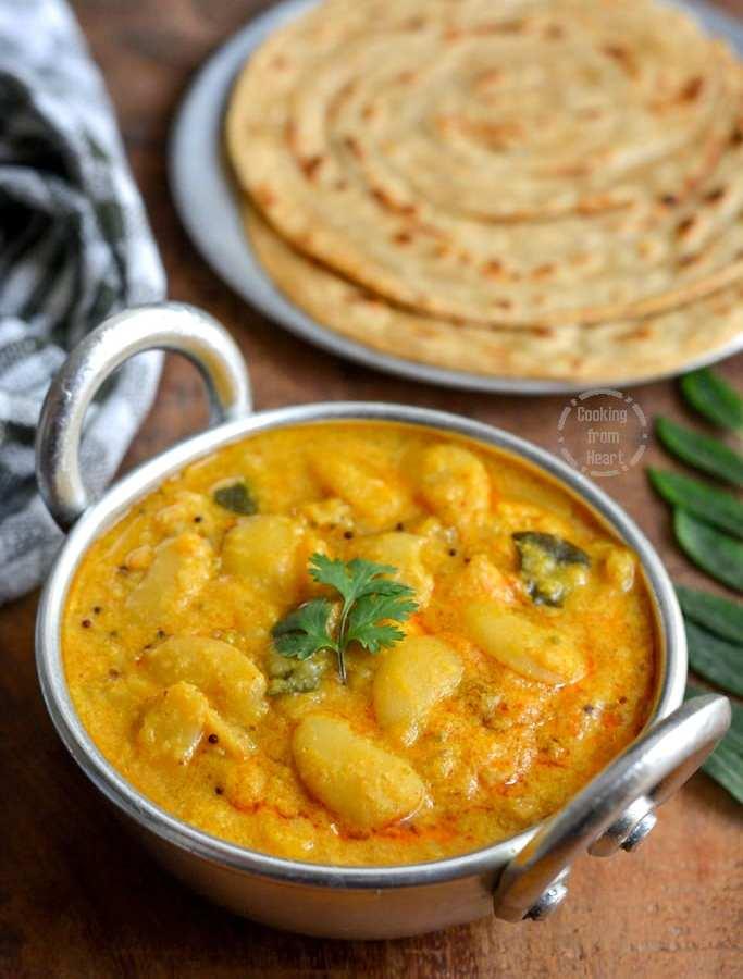 Double Beans Kurma | Pressure Cooker Kurma Recipe