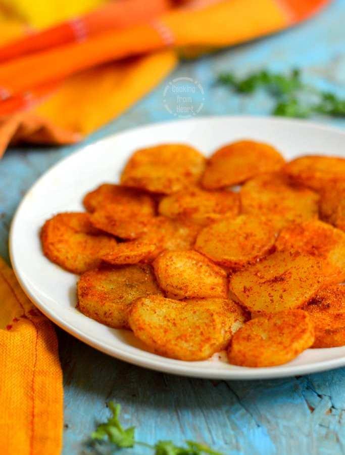 Aloo Tuk | Low Calorie Aloo Tuk Recipe