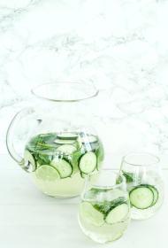 Minty Cucumber Lime Sangria | cookinginmygenes.com
