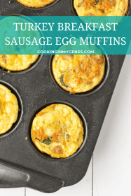 Turkey Breakfast Sausage Egg Muffins