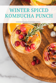 Winter Spiced Kombucha Punch