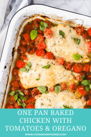 One Pan Baked Chicken with Tomatoes & Oregano