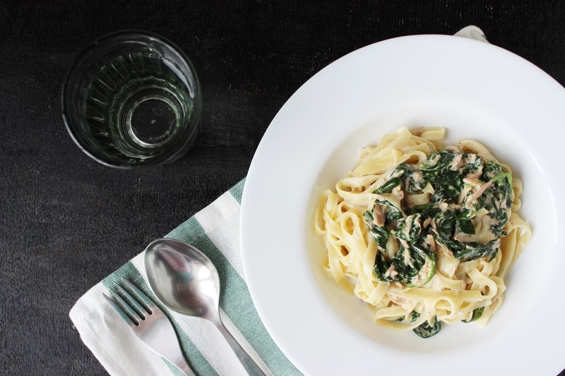 Tuna and Spinach Pasta