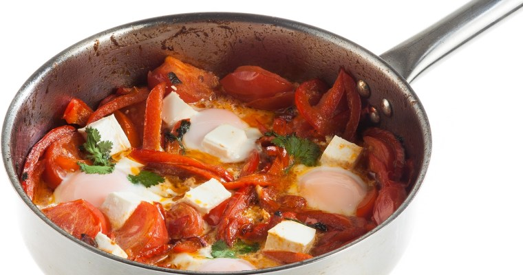 Shakshuka with sweet peppers