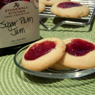 Sugar Plum Jam Thumbprint Cookies