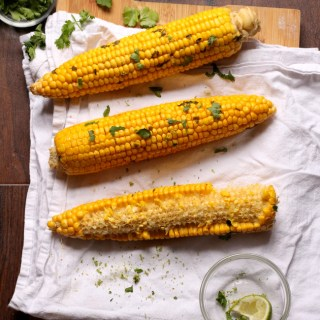 Spicy Cilantro Lime Corn on the Cob