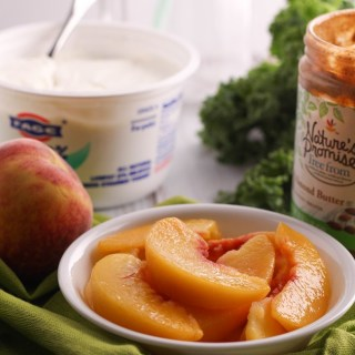 Peach Almond and Kale Smoothie Ingredients