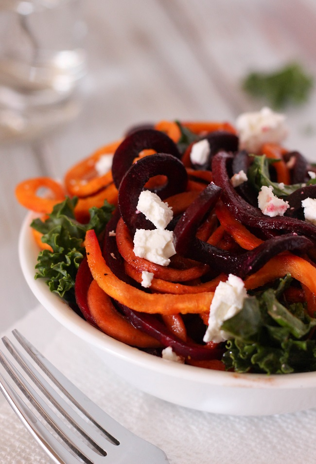 Sweet Potato and Beet Spiralized Salad