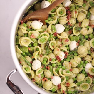 Garlic Scape Pesto Pasta Salad