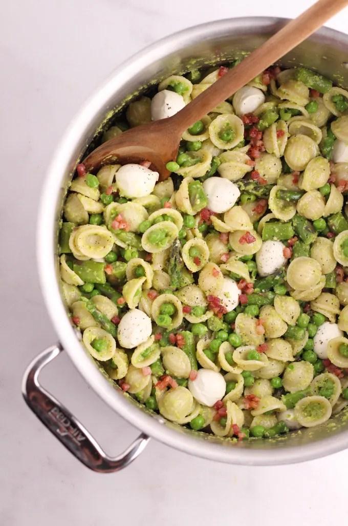 Garlic Scape Pesto Pasta Salad