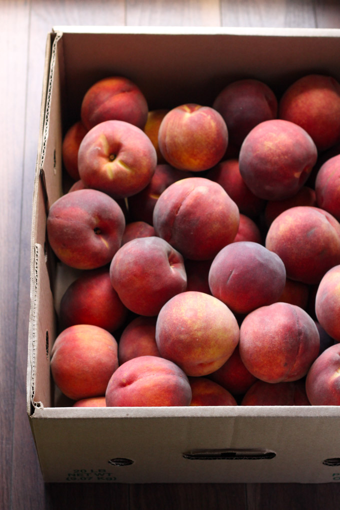 20 pounds of peaches