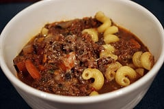 lentil and lamb soup with noodles
