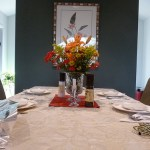 holiday table set for entertaining