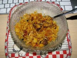 Leftover Chicken Biryani