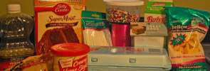 selected ingredients: Eggs, icing, sprinkles, candy