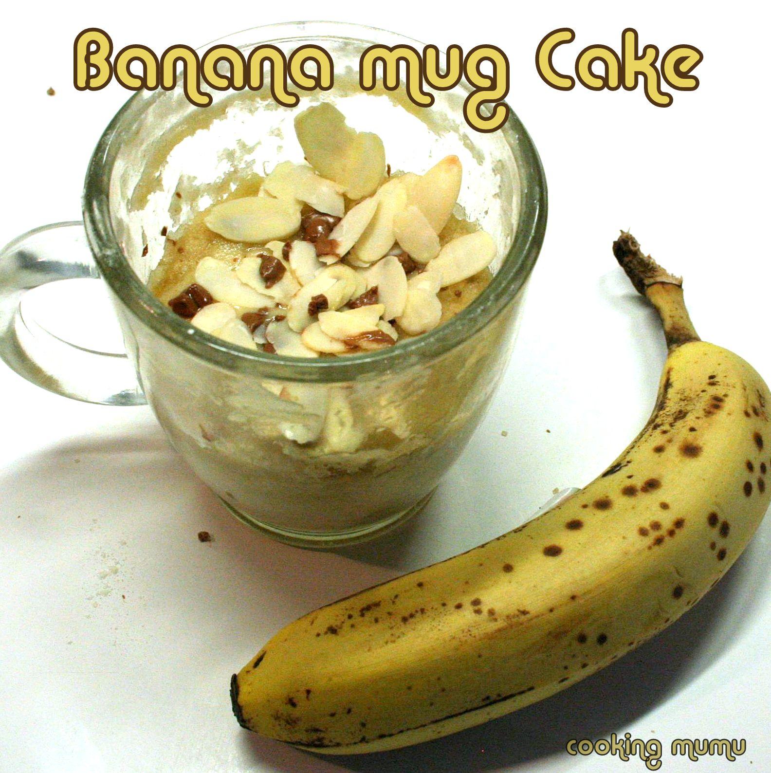 Banana Mug Cake Le Banana Bread En 5mn Au Micro Ondes