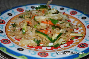 qiunoa salad with zucchini, cucumber, radish (10)