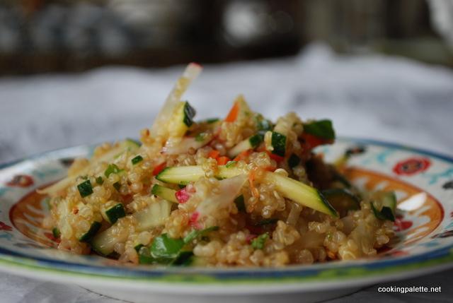qiunoa salad with zucchini, cucumber, radish (13)